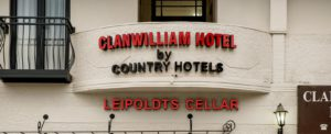 clanwilliam hotel by country hotels sign